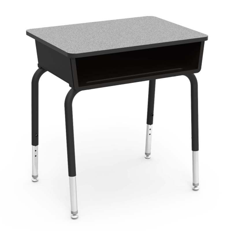 785 Series Gray Student Desk 785 BLK01 GRY091BLK01 BLK01   Bizchair com     Our Quick Ship 785 Series Gray Nebula Laminate Top Student Desk with  Black Open Front Plastic