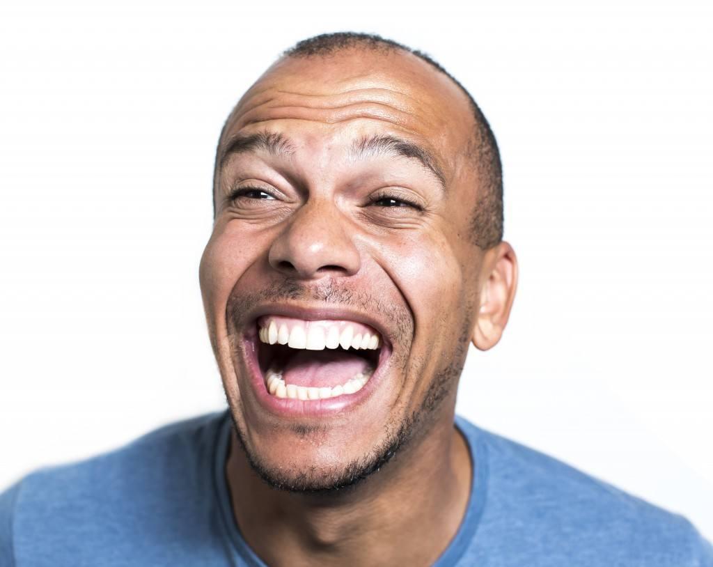 Man Laughing Really Hard