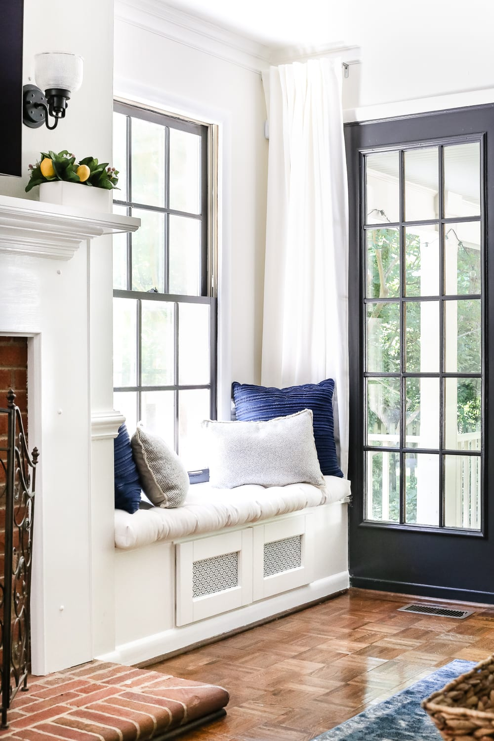 Diy Window Seat From A Kitchen Cabinet Bless Er House