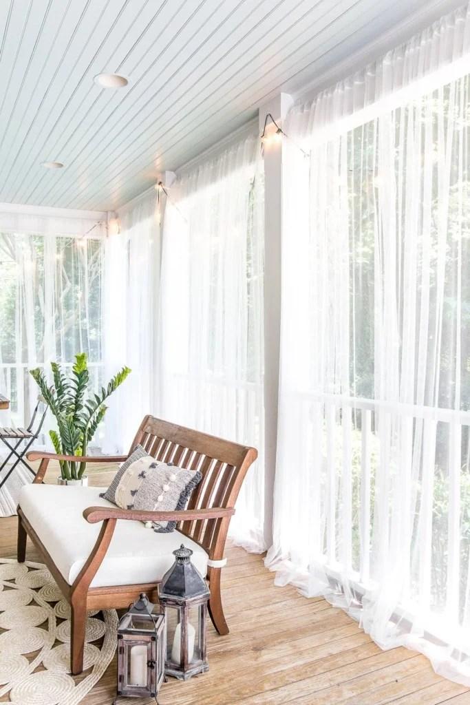 Screened Porch Curtain Ideas