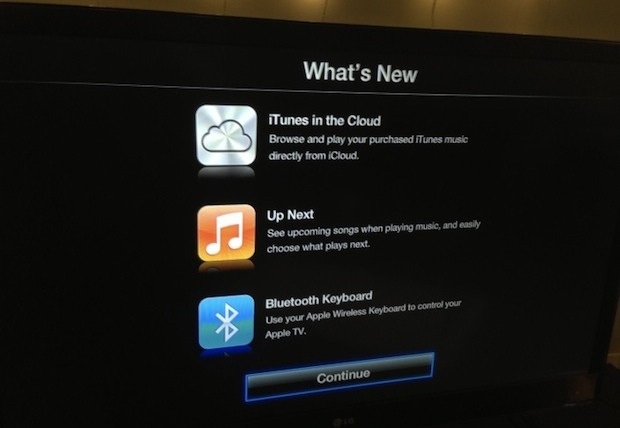 Apple TV software update brings Bluetooth keyboard support  music     Apple TV software update brings Bluetooth keyboard support  music from  iTunes in the Cloud