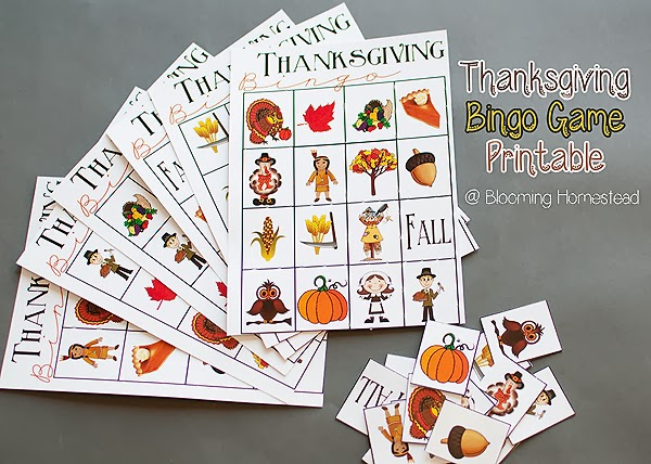 Thanksgiving Bingo Game Free Printable   Blooming Homestead Download this free Thanksgiving Bingo Game perfect for the holidays