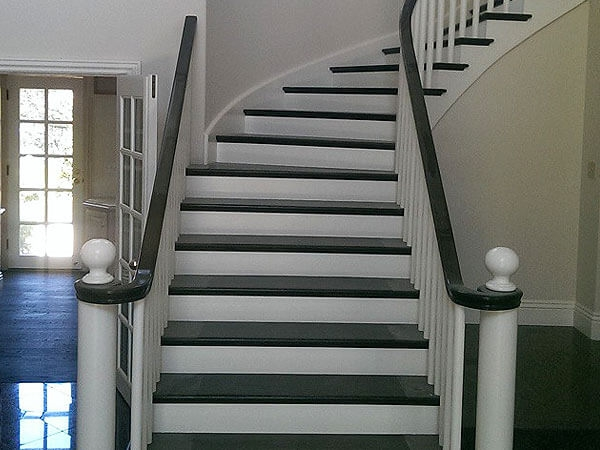 Hardwood Floor Stair Inlays San Mateo Ca Wood Stair   Wood Floors And Stairs   Inside   Red Oak   Cherry Wood   Combined Wood   Rustic Wood