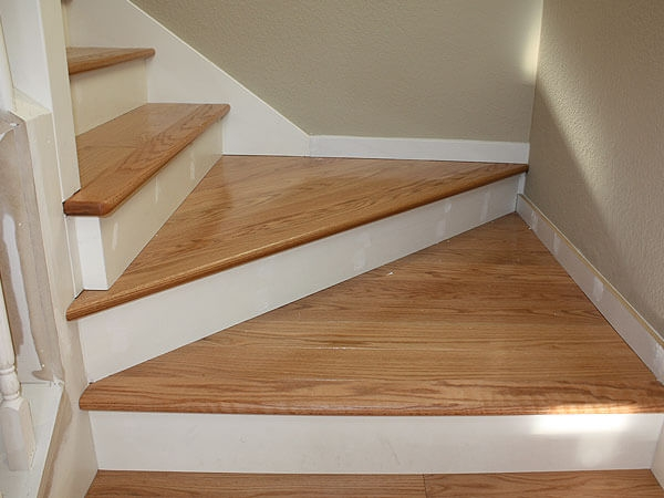 Hardwood Floor Stair Inlays San Mateo Ca Wood Stair | Installing Hardwood Stairs Over Existing Stairs | Prefinished Stair | Stair Tread Caps | Carpeted Stairs | Wood Flooring | Treads
