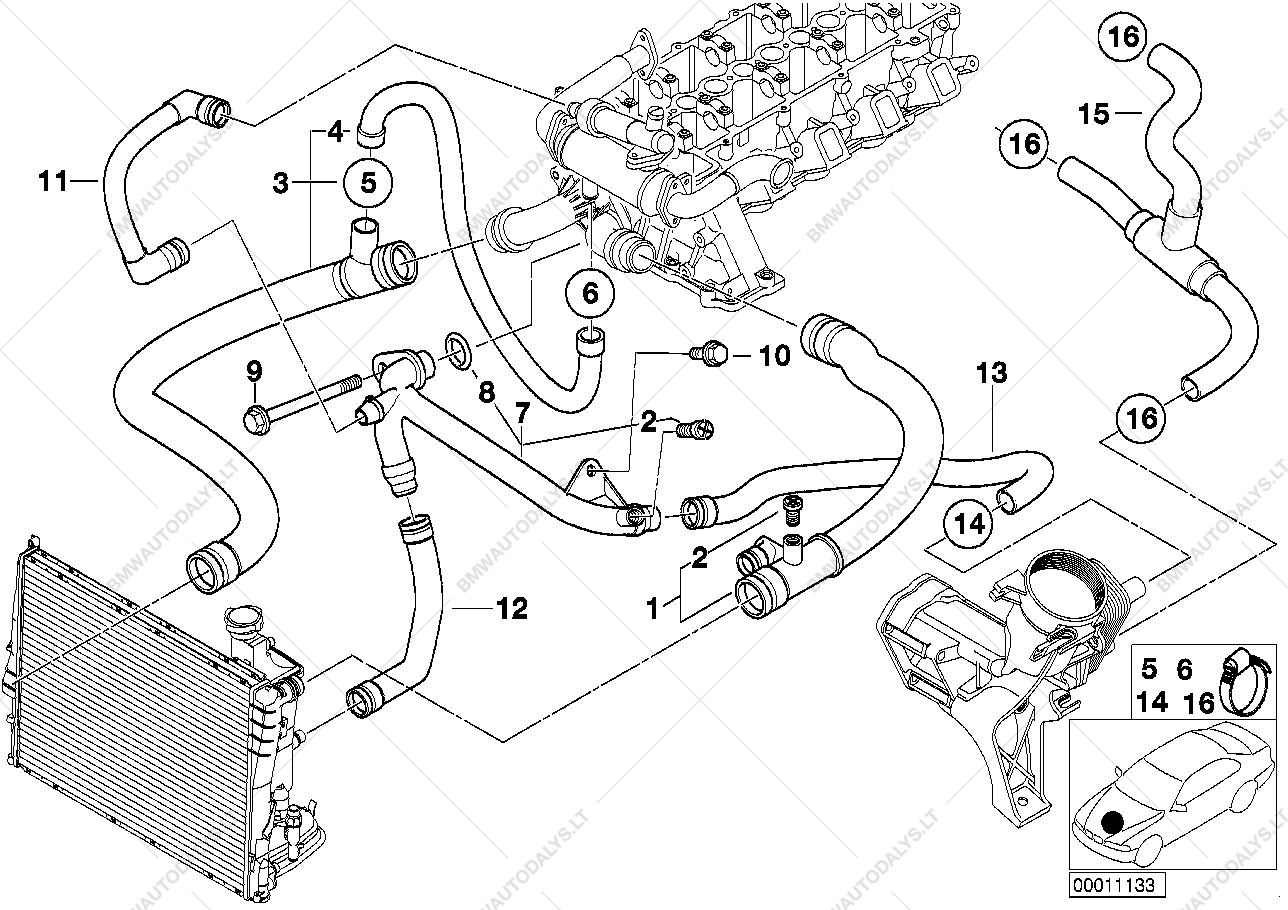 Bmw E39 Cooling System Diagram