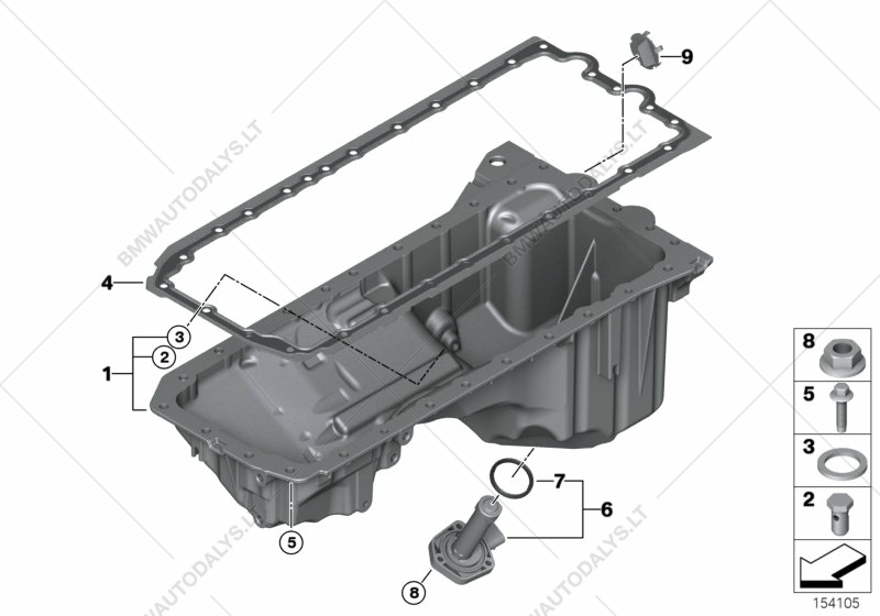 Oil pan for bmw z4 e89 z4 35i roadster ece bmw spare parts