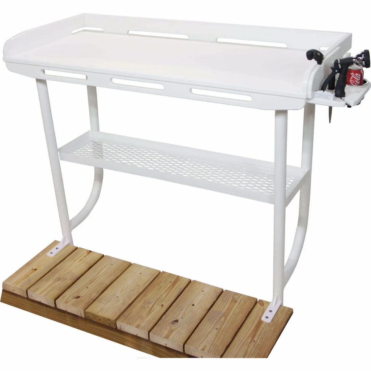 Dorable Portable Camp Fish Cleaning Table With Faucet Component ...