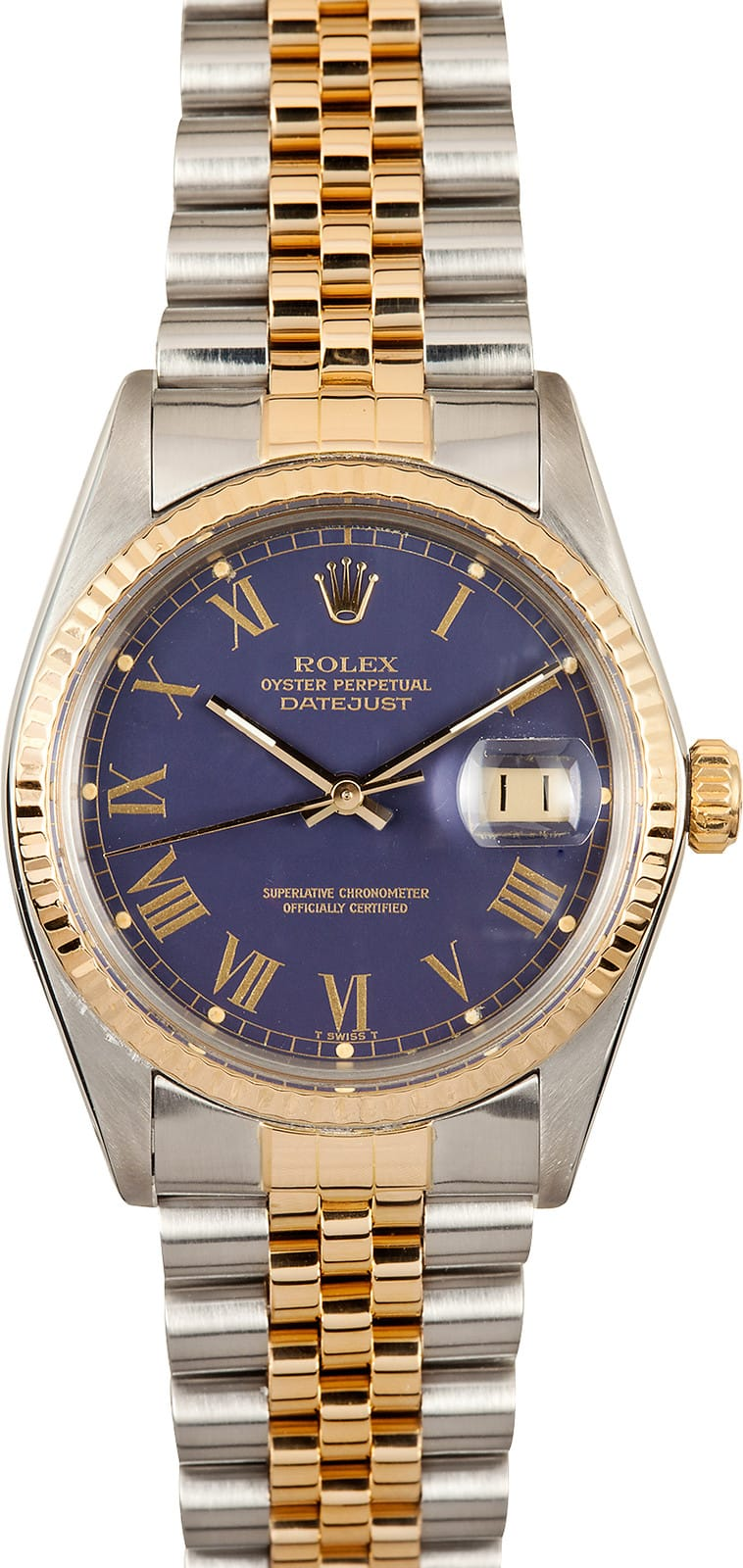 Rolex Datejust 16013 Blue Dial Stainless Steel Save