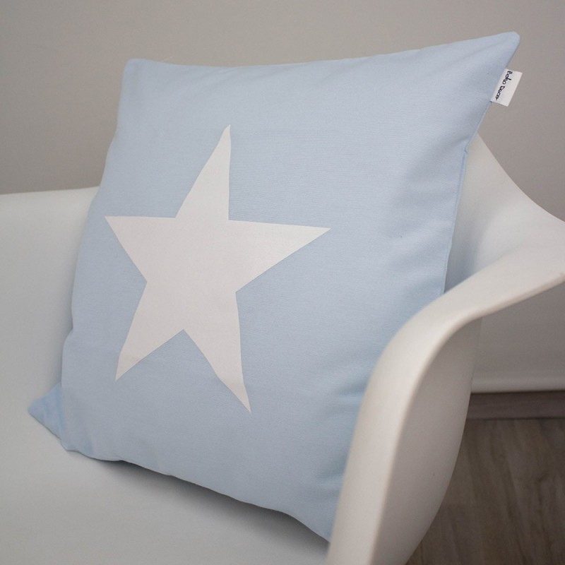 Baby Blue Star Cushion Boho Deco Shop