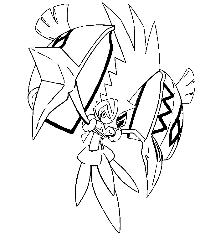 Pokemon Ultra Beasts Coloring Pages