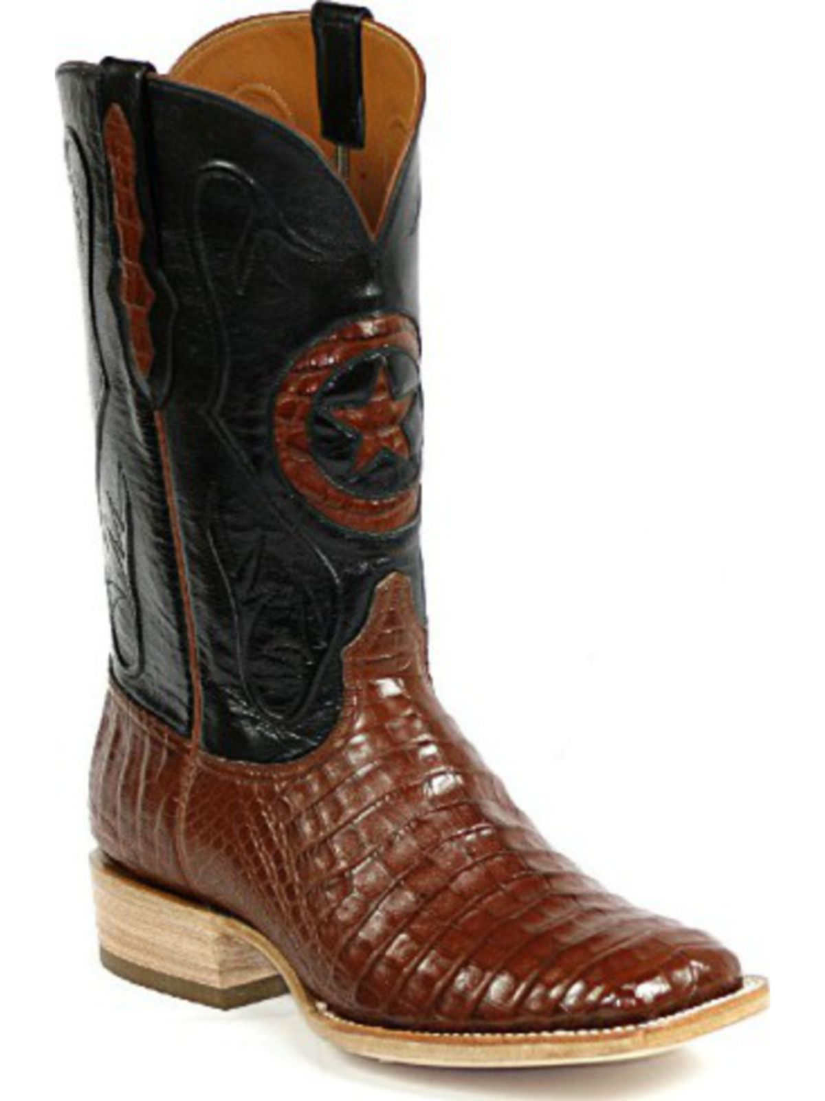 Bootamerica Black Jack Boots Lone Star Inlay Caiman