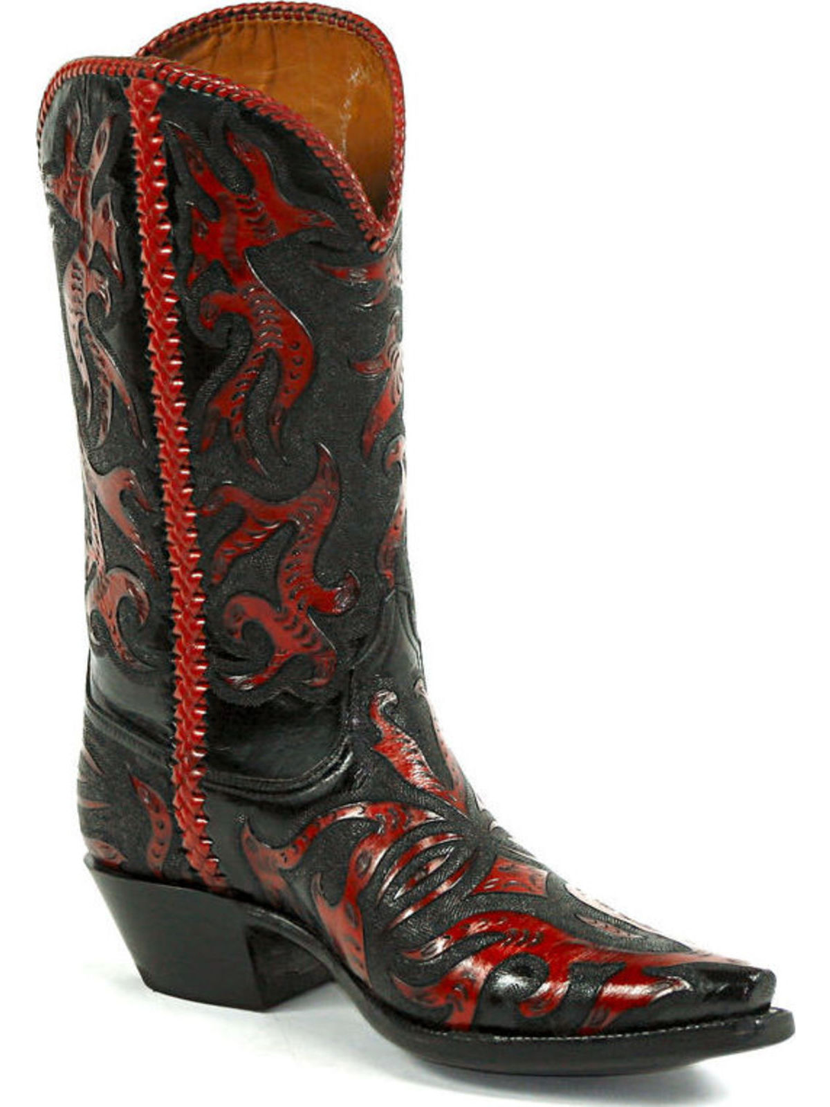 Bootamerica Black Jack Boots Full Tooled Withlace Hand