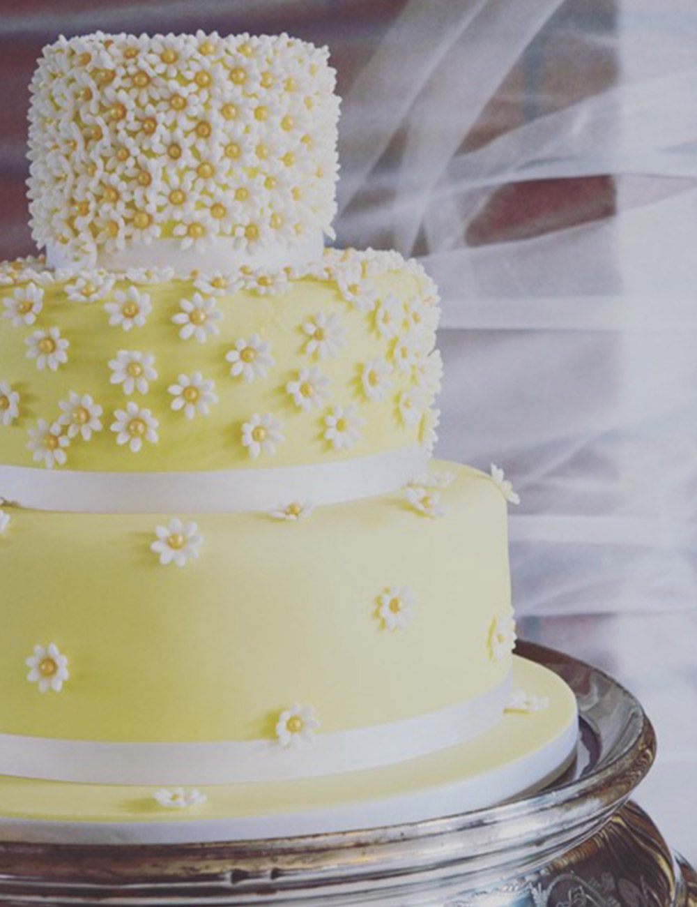Boo To A Goose   Private Chef and Wedding Cakes from Tavistock  Devon Daisy flower yellow wedding cake