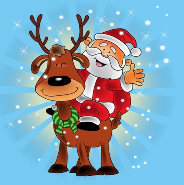 40 Cute Santa Illustrations To Make You Say Awwww - Bored Art