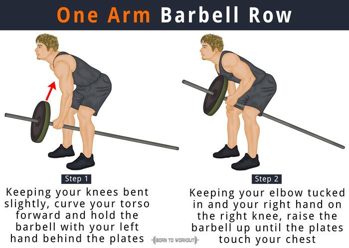 How to do One Arm Barbell Row (Barbell Single Arm Row ...