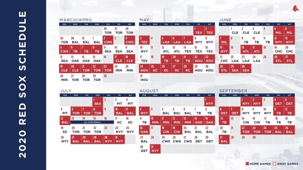 red sox schedule # 8