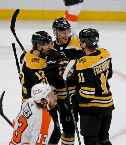 Bruins Pound Flyers Into Submission, 6-1 – Boston Herald
