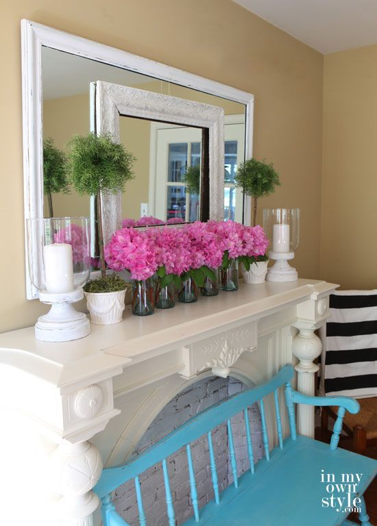 Our Favorite Spring Fireplace Mantel D    cor Ideas  Spring Fireplace Mantel Decor