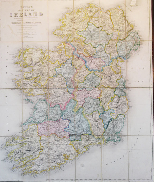 Betts  New Map of Ireland Accurately Reduced from the Beautiful Six     Betts  New Map of Ireland Accurately Reduced from the Beautiful Six Sheet  Map Engraved Under  Betts  New Map of Ireland