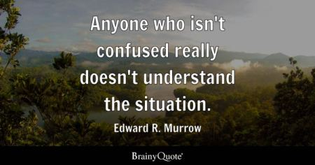 Confused Quotes   BrainyQuote Anyone who isn t confused really doesn t understand the situation    Edward