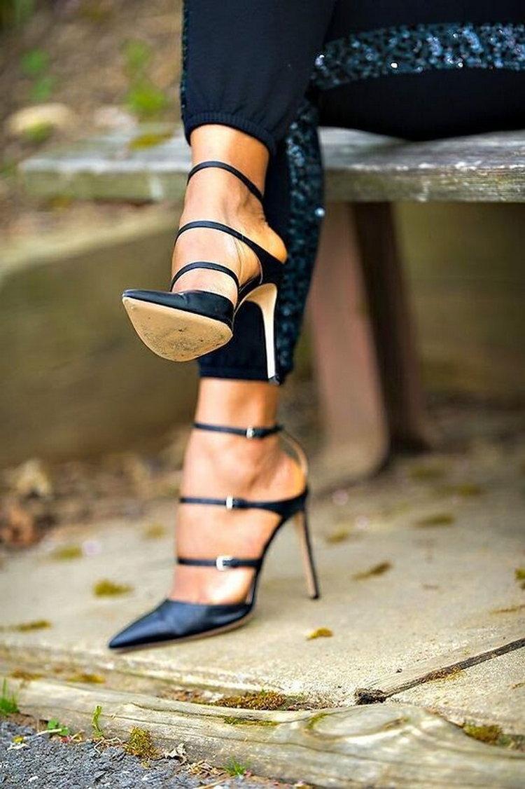 Tan Heeled Sandals