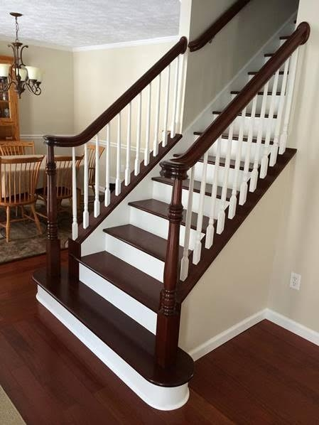 Stairs Treads And Risers Hardwood Floor Accessories By | Wood Treads And Risers | Step | Coretec Plus | Light Oak | Remodel | Custom