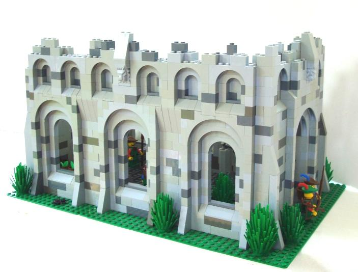 Ruined Church   LEGO Historic Themes   Eurobricks Forums This is the best angle of the church in my opinion  it shows the one  complete wall with all the arch techniques which I very much enjoyed  employing