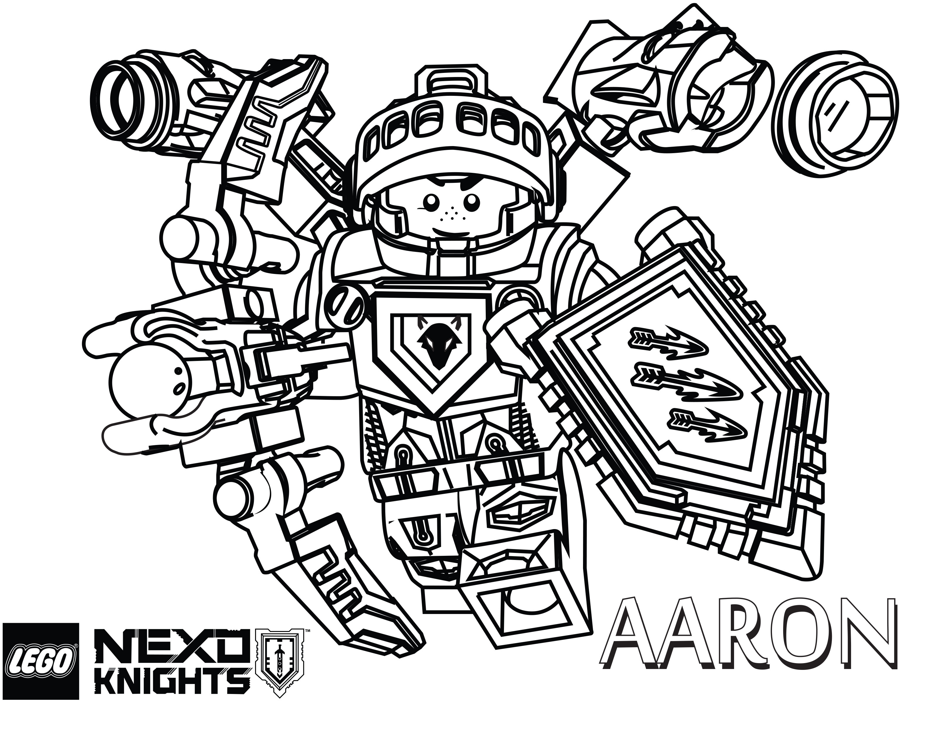 Lego Nexo Knights Coloring Pages The Brick Fan The Brick Fan