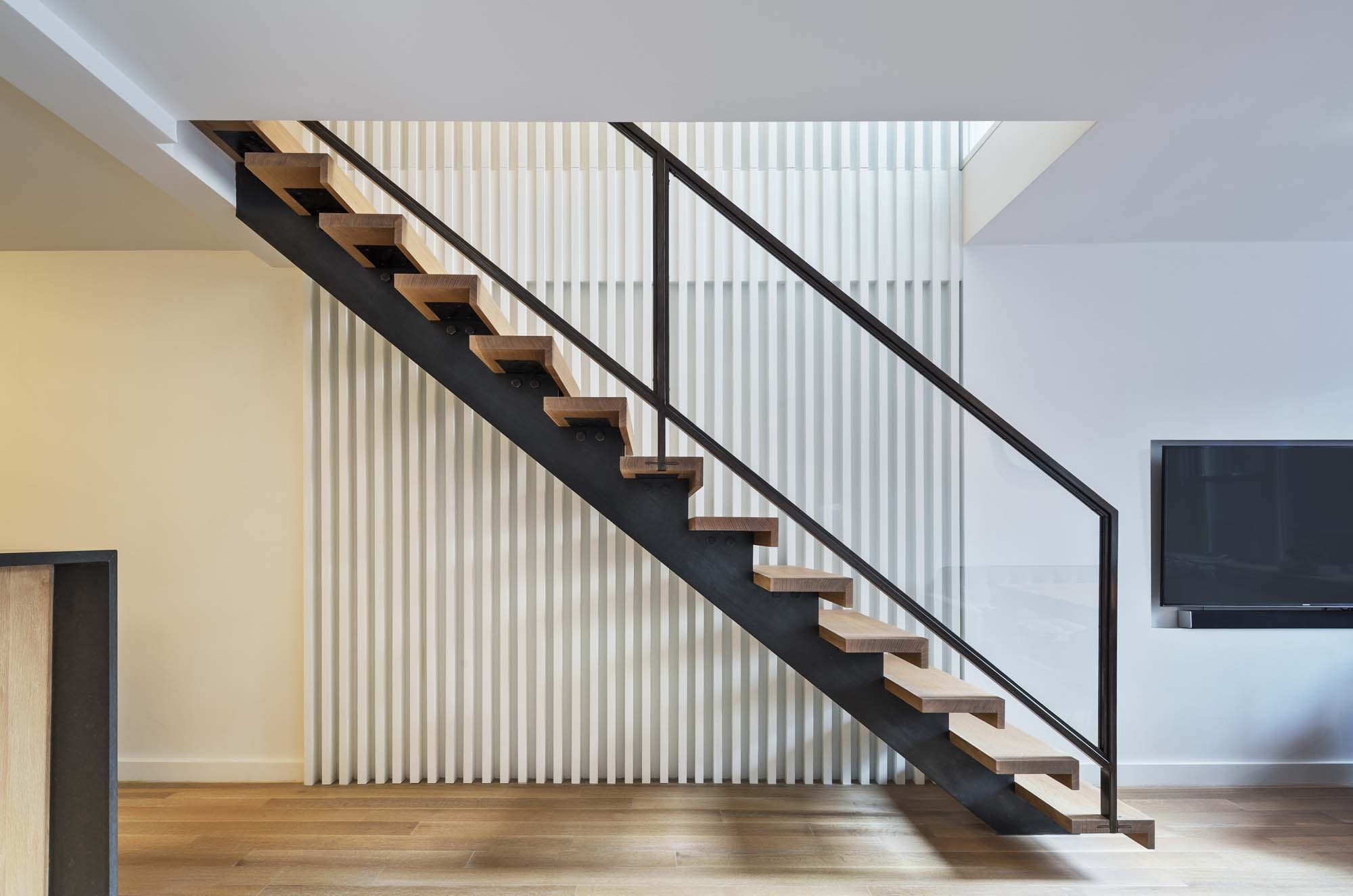 Spiral Staircase Alternatives For Your Nyc Duplex Renovation   Loft With Spiral Staircase   Small   Contemporary   Addition   Timber   New