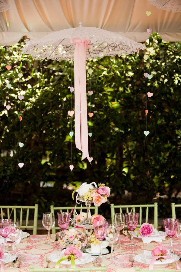 Outdoor Vintage Lace Tea Party Bridal Shower Bridal Shower Ideas Themes