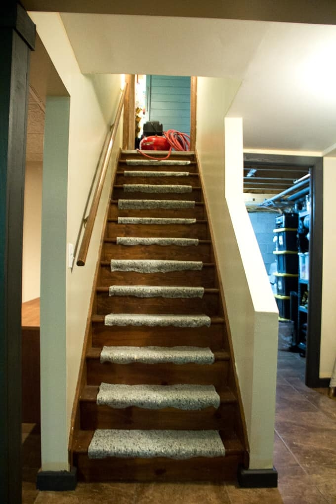 How To Install A Stair Carpet Runner Bright Green Door   Best Carpet Padding For Stairs   Landing   Moisture Barrier   Install   Flooring   Wooden Stairs
