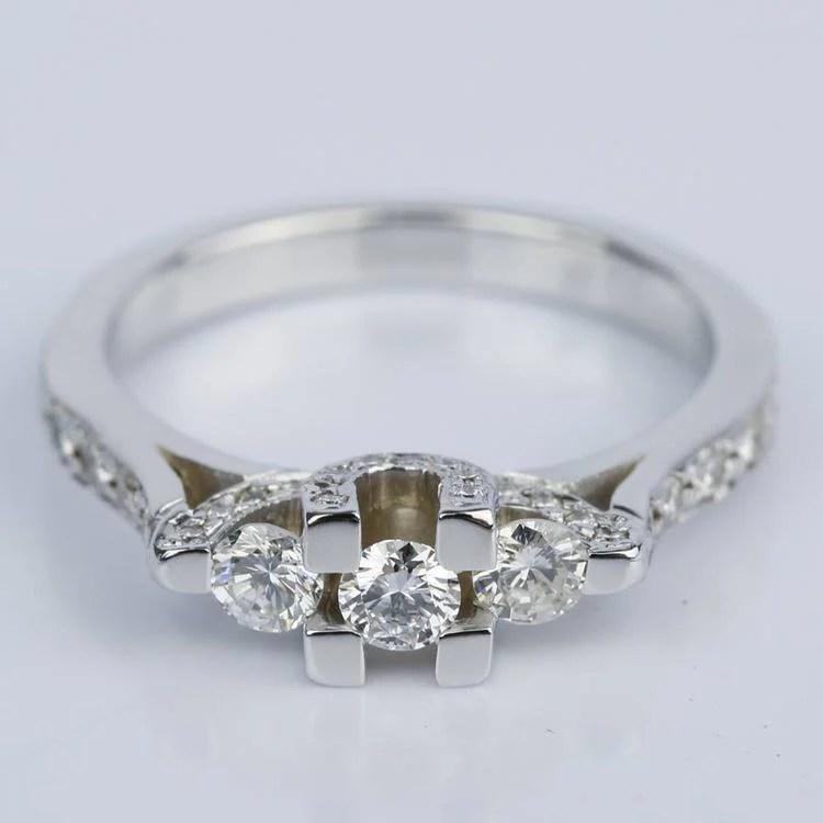 Custom Trellis Diamond Engagement Ring 0 16 Ct