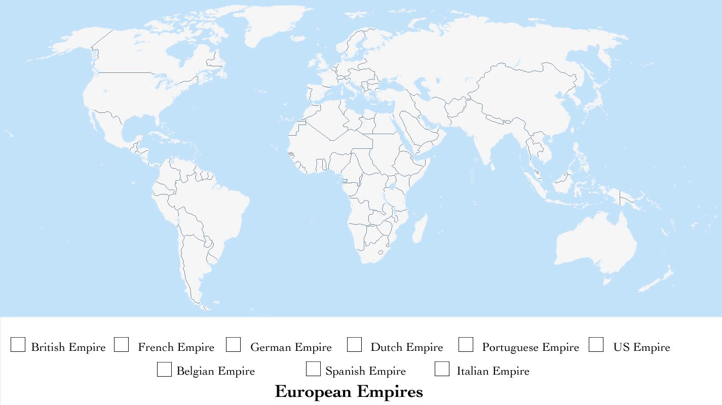 German Colonial Empire Map 1750 1914