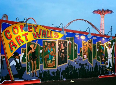 Wall street mural: Coney Art Walls dazzle diners ...