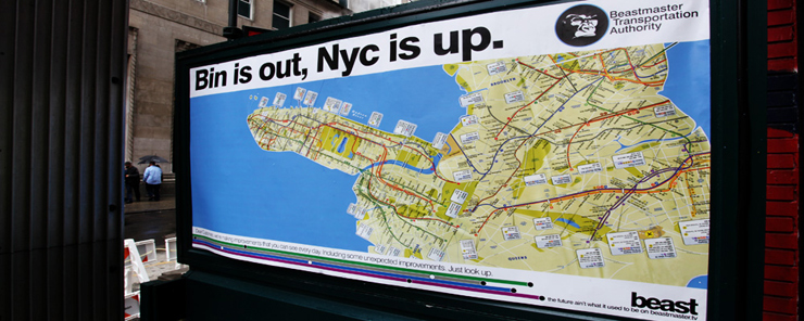 Manhattan Gets It Up   Beast Fools With Subway Map   Brooklyn Street Art brooklyn street art Beast  NYC subway map 05