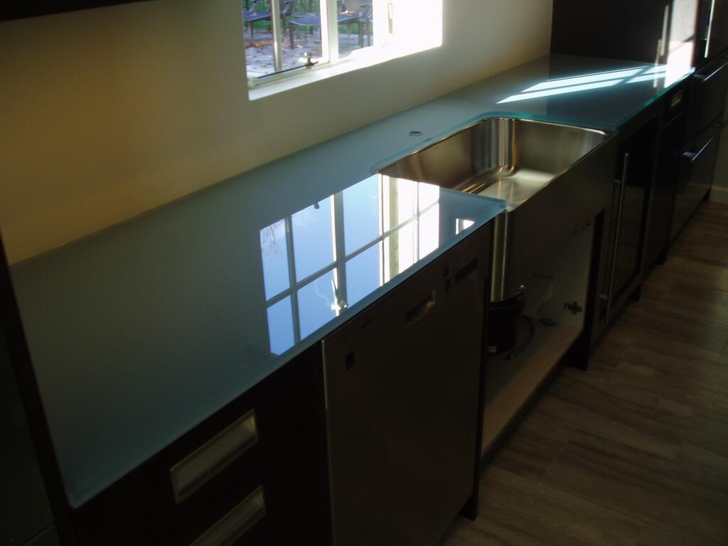 Backpainted Glass Countertops Brooks Custom