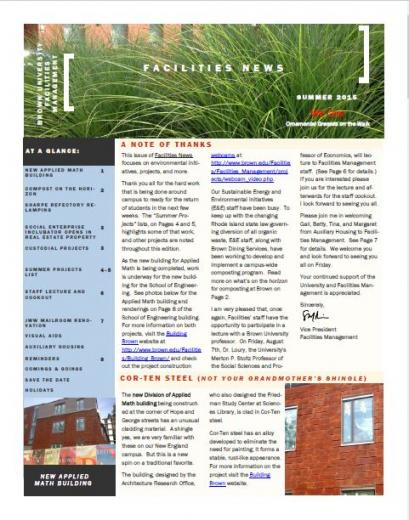 Facility Management Newsletter