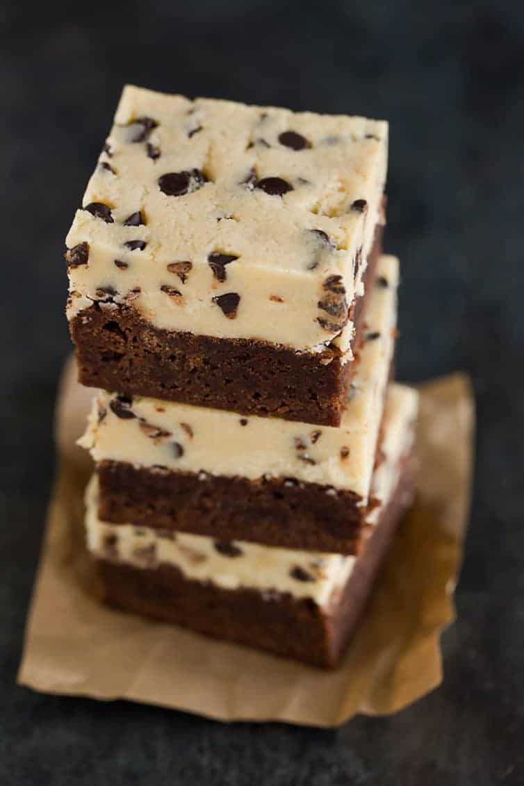 Chocolate Chip Cookie Dough Brownies Brown Eyed Baker