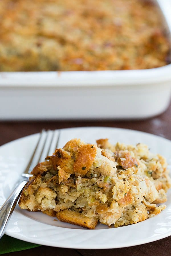 Traditional Bread Stuffing Recipe Traditional Bread Stuffing   A must make for any Thanksgiving dinner     browneyedbaker