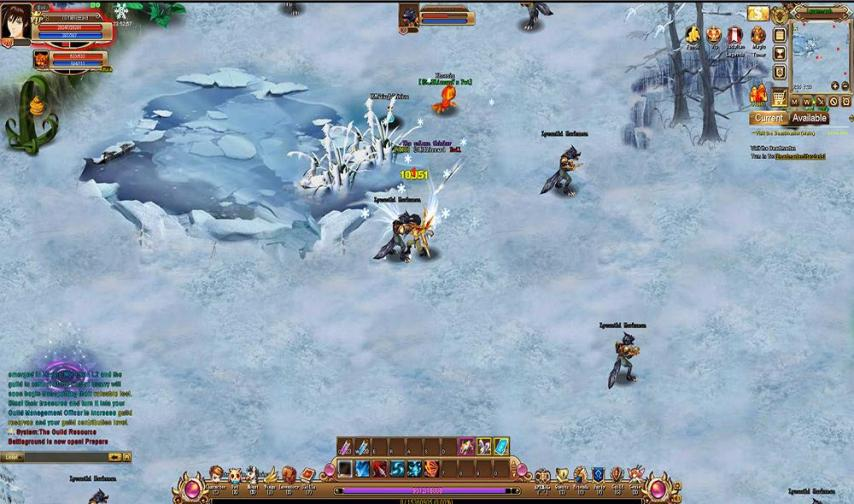 Browser Games List   browser online games   free browser games Crystal Saga II screenshot