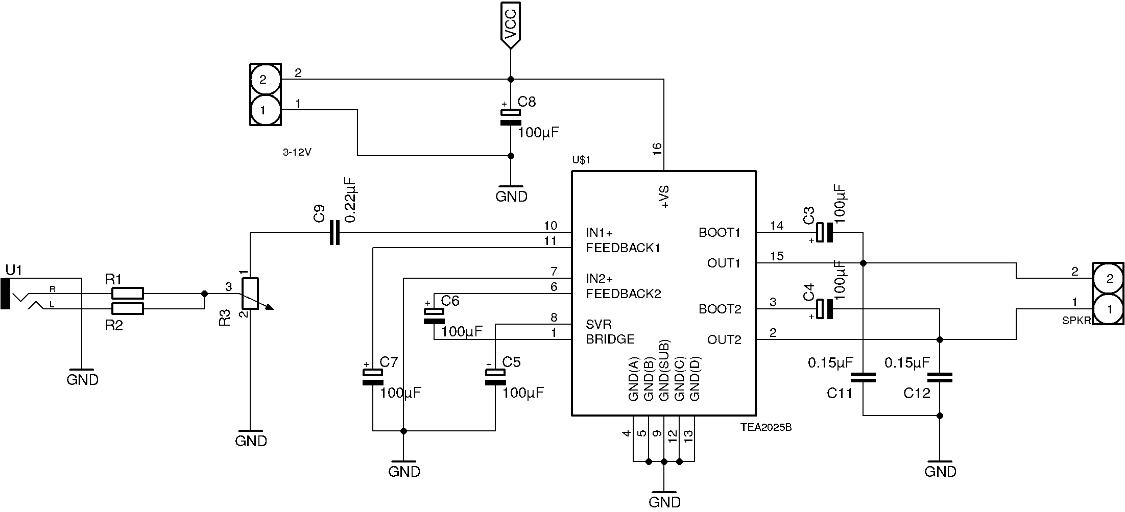 Booster Amplifier Circuit Diagram Cable Tv Signal