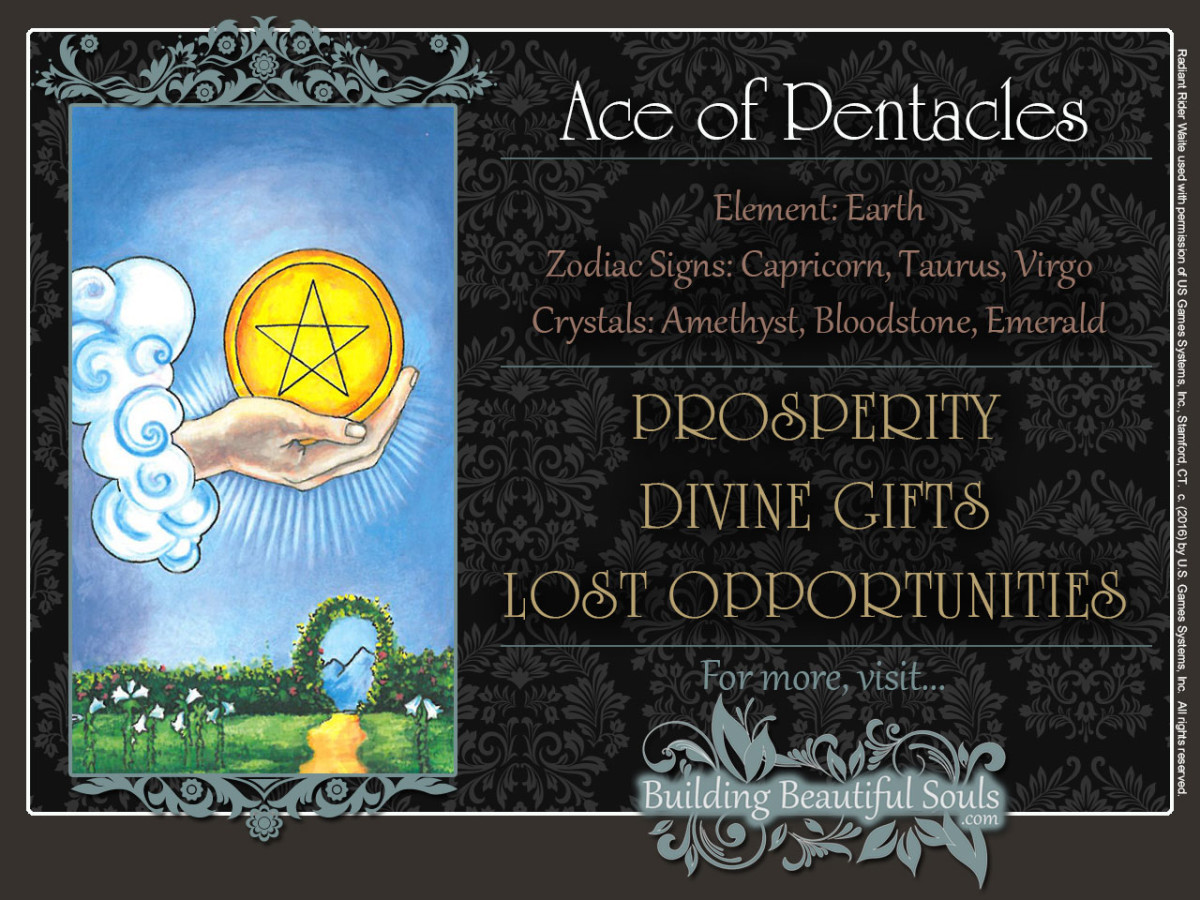 Ace Pentacles Rider Waite