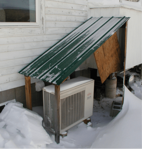 Heat Pump Unit Mounted Side House