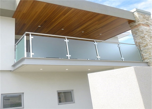 Top Mount Stainless And Glass Balustrade Staircase Steel Railing | Stairs Railing Designs In Steel With Glass | Single Wall | Interior | Eye Catching | Steel Main Gate | Contemporary