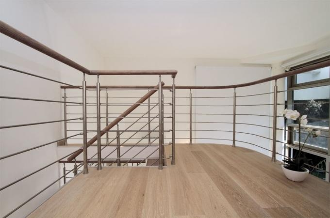 Round Stainless Steel Stair Railing Systems For Prefabricated | Modern Stainless Steel Staircase Railing | Modular Steel | Hand | Crystal Handrail | Contemporary | Exterior