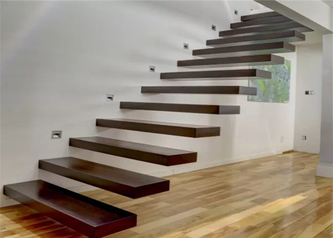 Wooden Steps Floating Steps Staircase Residential Indoor | Removable Handrail For Stairs