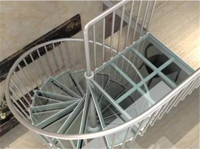 Aluminum Frame Glass Custom Spiral Staircase Flexible Small Spave | Flexible Handrail For Spiral Staircase | Staircase Ideas | Stair Kit | Loft Stairs | Stair Parts | Modern Staircase