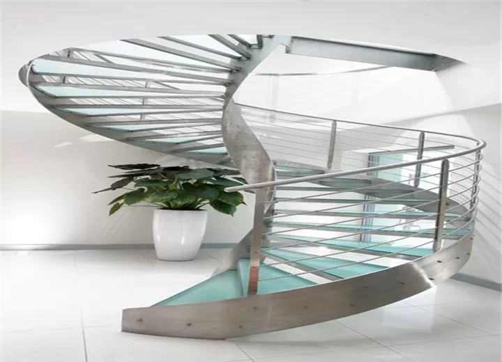 Residential Metal Spiral Staircase Stainless Steel Railing   Stainless Steel Spiral Staircase   Custom Iron   Wooden   Indoor   Bronze   Top