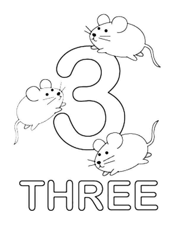 number 3 coloring page # 31