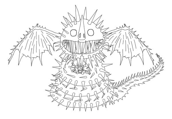 Snaptrapper Dragon Coloring Pages